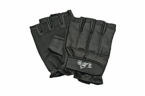 Defence-Security-Gants-Mitaine-cuir-renforces-metal-Motard-Police-SAP-Gloves-Taille-L-172576-L-0