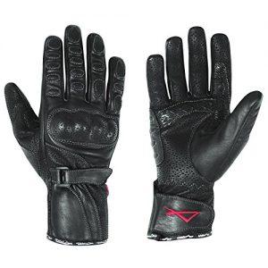Gants-Longs-Femme-Cuir-Protections-Coques-Moto-Motard-Renforcs-Sonic-noir-S-0