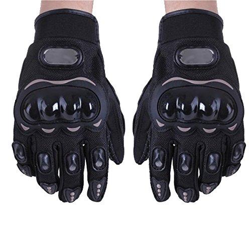 Paire-Noir-Gants-Doigt-Complet-Protection-M-Moto-Vlo-Sport-Femme-Homme-0