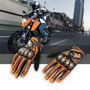 Pro-biker-Doigt-Complet-moto-vlo-course-quitation-gants-couleur-orange-taille-XL-0-0