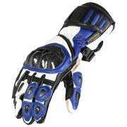 Texpeed-Gants-de-protection-de-moto-cuir-bleunoir-M-8cm-85cm-0