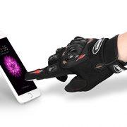 Gants-Moto-Ete-Homologu-CE-1KP-CARCHET-Femme-Homme-Plein-Doigt-Ecran-Tactile-Respirable-Anti-glissant-Anti-usure-Rglable-Noir-Taille-L-0-0