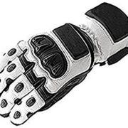 Blanche-motard-en-cuir-moto-motocyclette-gants-impermables-L-0