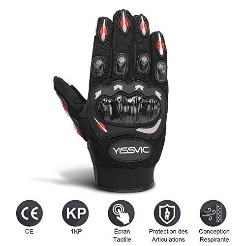 Yissvic-Gants-Moto-Homologus-CE-1KP-Gants-Scooter-t–cran-Tactile-Plein-doigt-Anti-Glissant-Anti-Usure-Noir-Taille-M-22-24cm-Version-Amliore-0