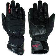 Gants-Motard-Moto-Textile-Cuir-Hiver-Thermique-Protection-Impermeable-noir-L-0