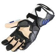 Texpeed-Gants-de-protection-de-moto-cuir-bleunoir-M-8cm-85cm-0-0