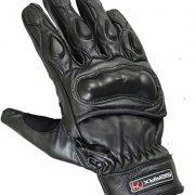 Court-t-Cuir-Vritable-Gants-Moto-Articulation-Coque-Protection-noir-XL-Noir-0