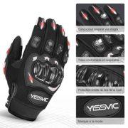 YISSVIC-Gants-Moto-Homologus-CE-Gants-Scooter--cran-Tactile-Plein-doigt-Anti-Glissant-Anti-Usure-Noir-Taille-L-25-27-cm-Version-Amliore-0-0