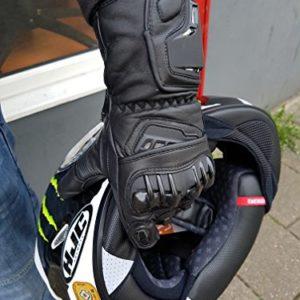 Gants-de-moto-Vector-Pro-Series-cuir-noir-taille-XL-0