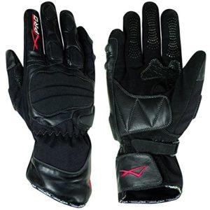 Gants-Motard-Moto-Textile-Cuir-Hiver-Thermique-Protection-Impermeable-noir-XL-0