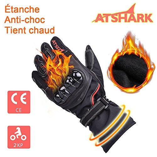 ATSHARK-Gants-Moto-et-Scooter-Gant-homologu-Obligatoire-Gant-Moto-Tactile-tanche-Hiver-Chaud-pais-renforc-Gant-Moto-2KP-pour-Homme-Femme-avec-Coque-Solide-Protection-Motard-scurit-0