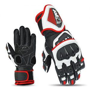 JET-Moto-Gants-de-moto-Gants-en-cuir-pleine-fleur-de-premire-qualit-L-Rouge-0