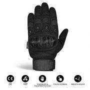 Unigear-Gants-Moto-Homologu-CE-Gants-Scooter-Unisexe-Mi-Saison-Ecran-Tactile-Respirable-pour-Auto-Moto-Vlo-Motocross-Combat-Camping-ou-Protection-des-Autres-Activits-Noir-M-0-0