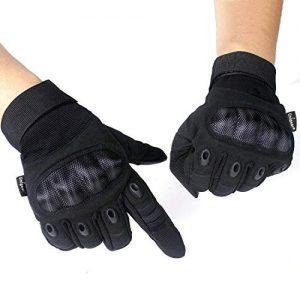 Unigear-Gants-Moto-Homologu-CE-Gants-Scooter-Unisexe-Mi-Saison-Ecran-Tactile-Respirable-pour-Auto-Moto-Vlo-Motocross-Combat-Camping-ou-Protection-des-Autres-Activits-Noir-M-0