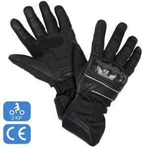 Gants-Moto-Hiver-Homologus-CE-Gant-Scooter-Tactile-dHiver-Homologu-2KP-Impermable-et-Thermique-Avec-3M-Thinsulate-Cuir-Vritable-et-Textile-Multi-Renforts-et-Protections-Femme-et-Homme-M-0