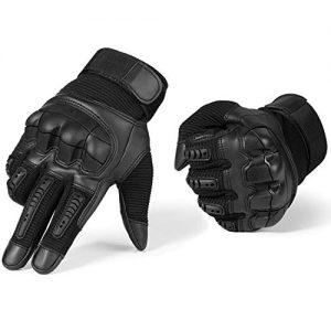 Yizhet-Gants-Moto-Renforcs-Gants-Tactiques-Moto-Gants-Scooter-Gants--cran-Tactile-Plein-Doigt-pour-la-Course-de-Moto-VTT-Escalade-Chasse-Randonne-et-Autres-Sports-de-Plein-Air-Noir-XL-0