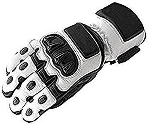 Blanche-motard-en-cuir-moto-motocyclette-gants-impermables-0