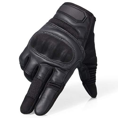 Non perfor/é Marron XL Bruce Dillon Nouveaux Gants de Moto Hommes /écran Tactile en Cuir Gants de v/élo /électrique /équitation Doigt Complet Moto Motocross Motocross
