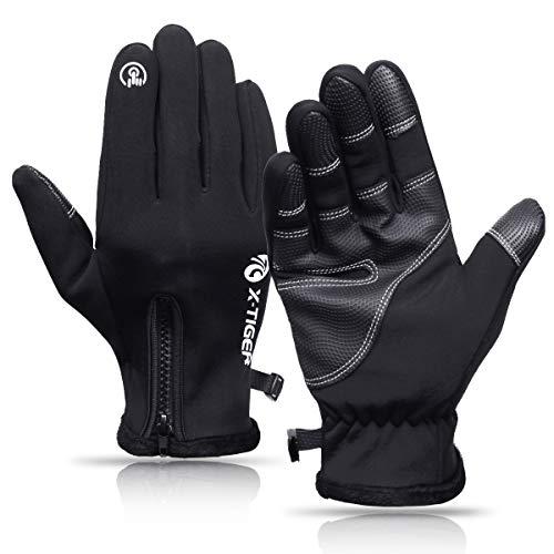 X-TIGER-Gants-dHiver-cran-Tactile-Chaud-en-Laine-Gants-pour-Homme-et-Femme-Cyclisme-VTT-Gants-Sport-Antidrapants-Gants-de-Moto-Compatibles-avec-cran-Tactile-pour-SmartphonesTablettes-0