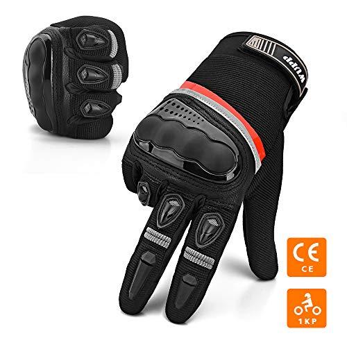 WUPP-Gants-Moto-et-Scooter-Gant-Moto-Homologu-CE-Obligatoire-Rsistants-Confortable-Gant-Unisexe-Anti-Usure-cran-Tactile-Gant-Respirable-Protection-Coque-Carbonne-Anti-Choc-Bonne-Sensibilit-0