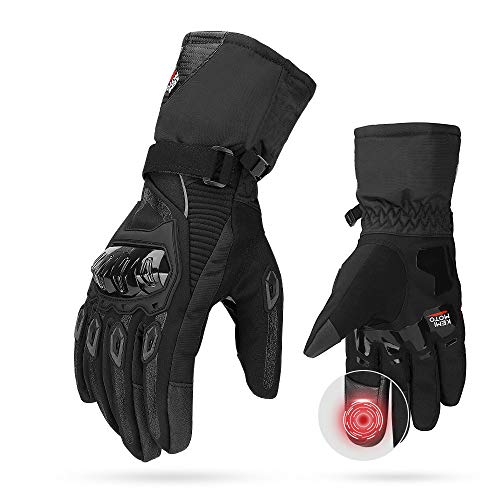 ISSYZONE-2KP-CE-Gants-de-Moto-Hiver-Homologus-Gants–Trois-Doigts-cran-Tactile-Impermable-Protection-Legre-et-Chaude-pour-Moto-VTT-Activits-en-Plein-air-Femme-et-Homme-0